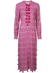 Figue Paolina Paisley Kaftan Dress Pink