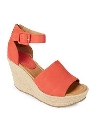 Kenneth Cole Reaction Sole Quest Wedge Sandals Red