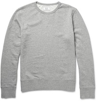 Officine Generale Loopback Cotton Jersey Sweatshirt Gray