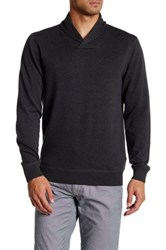 14Th And Union Solid Shawl Collar Sweater Gray