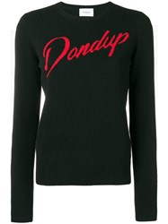 Dondup Logo Fitted Sweater Black