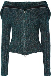 Opening Ceremony Ribbed Knit Cardigan Petrol