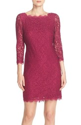 Women's Adrianna Papell Lace Overlay Sheath Dress Crushed Berry