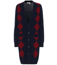 See By Chloe Wool And Cotton Blend Cardigan Blue