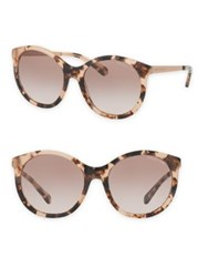 Michael Kors Island Tropics 55Mm Rounded Cat Eye Sunglasses Tortoise Pink