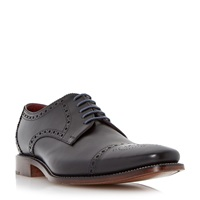 Loake Foley Brogue Toecap Leather Gibson Shoes Black