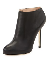 Sergio Rossi Leather High Heel Ankle Bootie Black