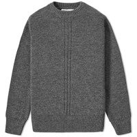 Mhl By Margaret Howell Mhl. Military Crew Knit Grey