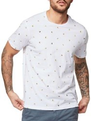 Bench Scatter Print T Shirt Bright White