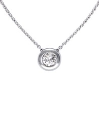 Effy Classique 14K White Gold Bezel Set Diamond Pendant Necklace