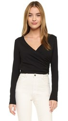 Susana Monaco Wrap Top Black