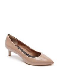 Rockport Kalila Point Toe Leather Pumps Taupe
