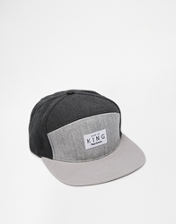 King Apparel Krest White Label Snapback Cap Grey