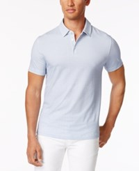 Kenneth Cole New York Men's Dot Pattern Stretch Polo Bayview