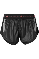 Adidas By Stella Mccartney Run Az Mesh Paneled Climalite Shorts Black