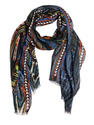 Etro Paisley Printed Cashmere And Silk Scarf