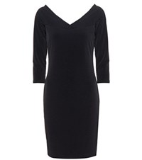 Velvet Marquette Jersey Dress Black
