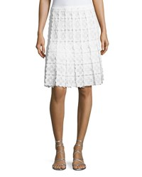 Elie Tahari Tyler Floral Lace A Line Skirt White