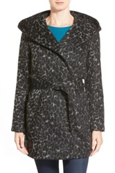 Steve Madden Hooded Wrap Coat Gray
