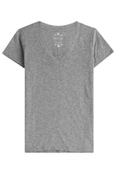 Velvet Cotton T Shirt Grey