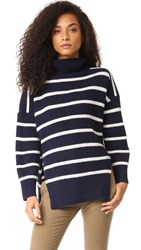 Sea Striped Sweater Blue White Stripe