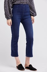 Urban Outfitters 'S Free People Pull On Ultra High Waist Crop Bootcut Jeans Blue