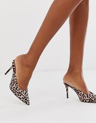 Call It Spring By Aldo Cheriee Pointed Heeled Mules In Animal Print Multi