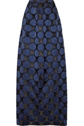 N 21 No. Polka Dot Taffeta Maxi Skirt Navy