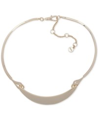 Dkny Gold Tone Curved Bar Collar Necklace Created For Macy's