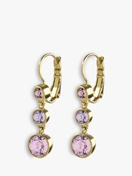 Dyrberg Kern Chia Swarovski Crystal Drop Earrings Gold Pink