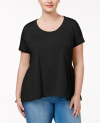 American Rag Trendy Plus Size Cotton Peplum T Shirt Only At Macy's Classic Black