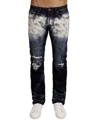 Cult Of Individuality Rebel Straight Splattered Jeans Whiteout