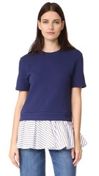Carven Short Sleeve Sweater Blue