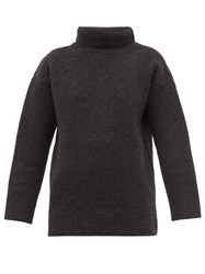 Jacquemus Agde Roll Neck Wool Blend Sweater Grey