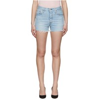 Levi's Blue 501 High Rise Shorts