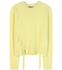 Proenza Schouler Wool And Cashmere Sweater Yellow