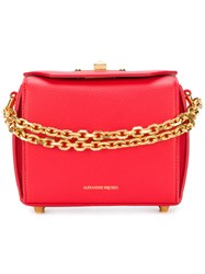 Alexander Mcqueen Box Shoulder Bag Leather Red