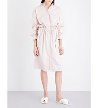 Jil Sander Caramel Cotton Poplin Shirt Dress Light Pastel Pink