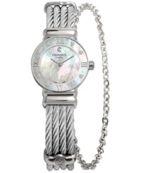 Charriol Women's Swiss St Tropez Diamond Accent Steel Cable Chain Bracelet Watch 25Mm 028Sd1.540.552