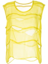 Taylor Split Sector Tank Top Yellow And Orange