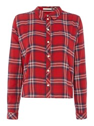 Tommy Hilfiger Thdw Basic Flannel Check Shirt Red