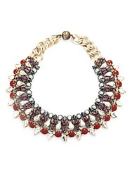 Tataborello Swarovski Crystal Studded Necklace Black Grey