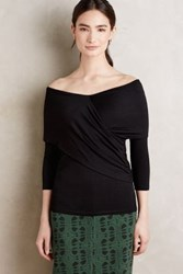 Anthropologie Brava Wrap Top Black
