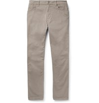 Hackett Trinity Slim Fit Stretch Cotton Twill Trousers Mushroom