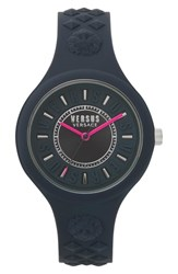 Versus By Versace Fire Island Silicone Strap Watch 39Mm Grey Fuchsia