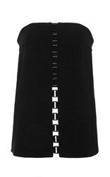 Sally Lapointe Bonded Crepe Bustier Black