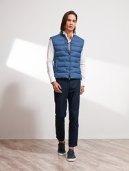 Shanghai Tang Down Padded Vest Teal