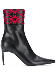 Haider Ackermann Embroidered Ankle Boots 60