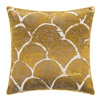 Roberto Cavalli Silver And Gold Bed Cushion 40X40cm Gold