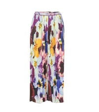 Christopher Kane Pleated Printed Silk Trousers Multicoloured